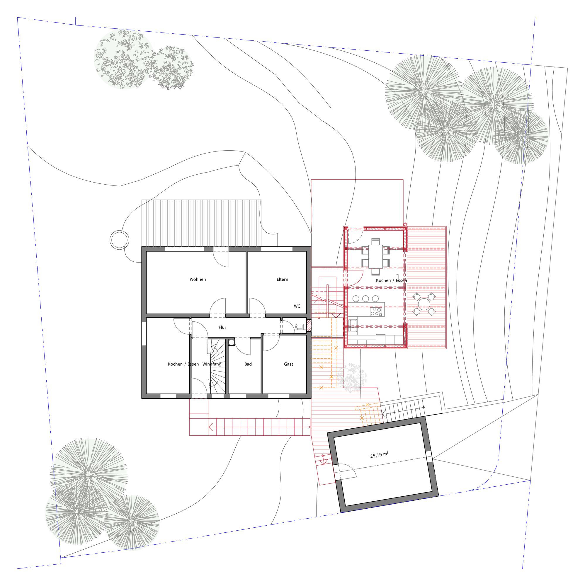 erweiterung eines einfamilienhauses als mehrgenerationenhaus blauhaus architekten. Black Bedroom Furniture Sets. Home Design Ideas