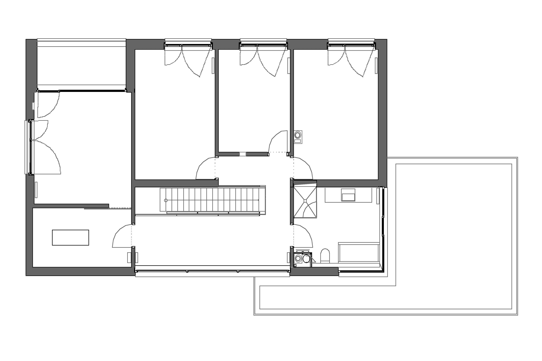 Aus alt mach neu stadthaus mit carport blauhaus architekten for Grundriss neubau einfamilienhaus