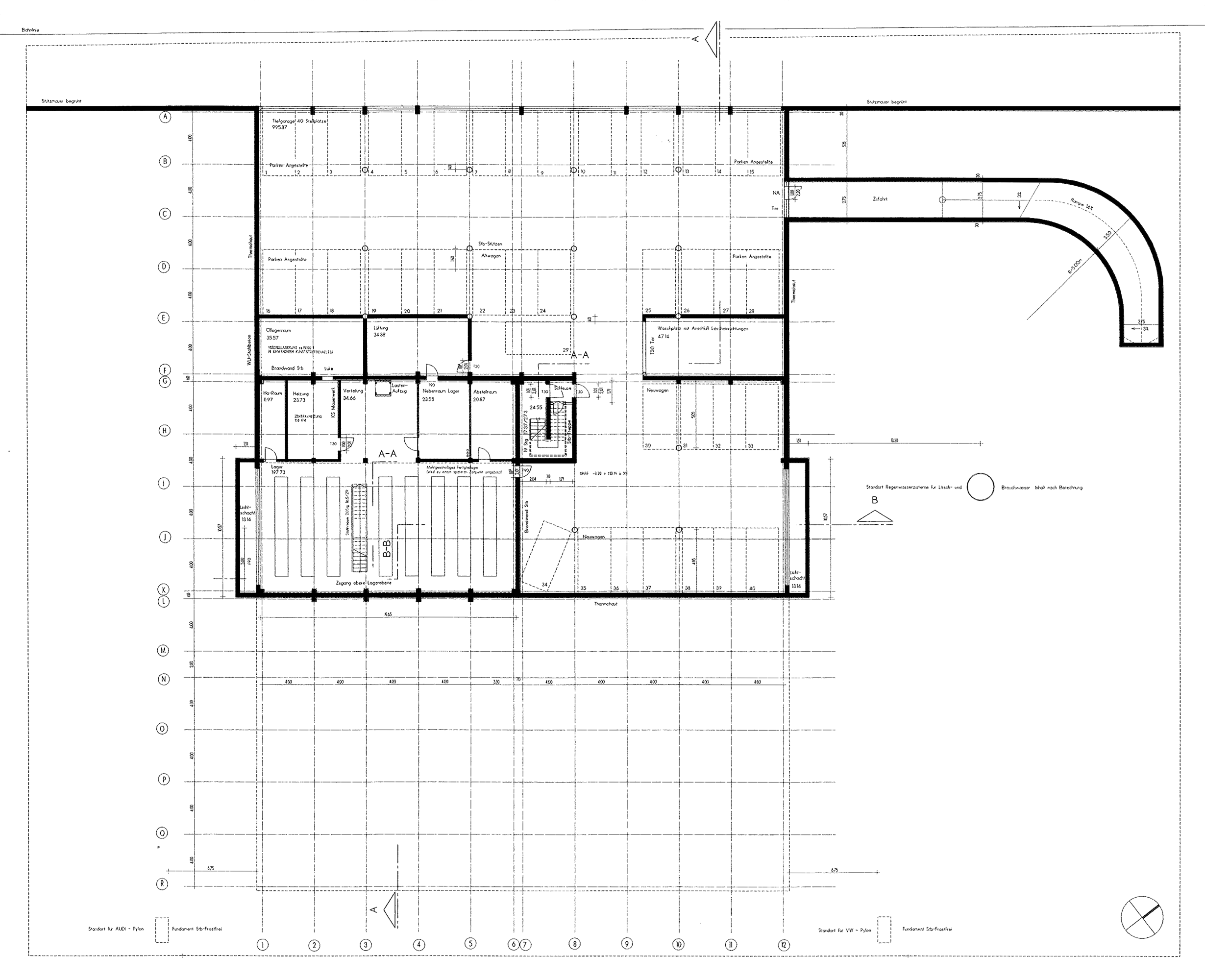 herausforderung neubau im gewerbebau vw und audi. Black Bedroom Furniture Sets. Home Design Ideas