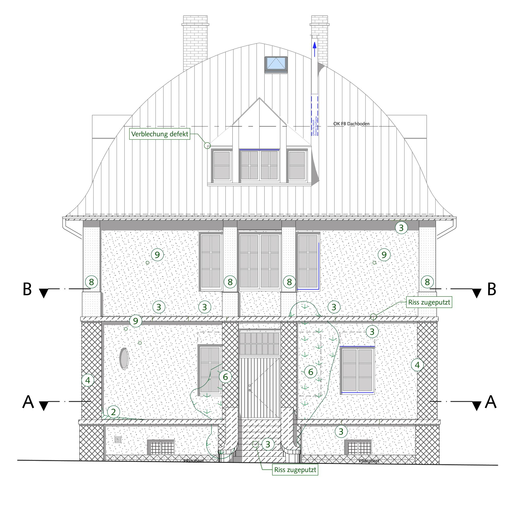Süd West Ost Nord : instandsetzung einer villa mit tiefgang blauhaus architekten ~ Frokenaadalensverden.com Haus und Dekorationen