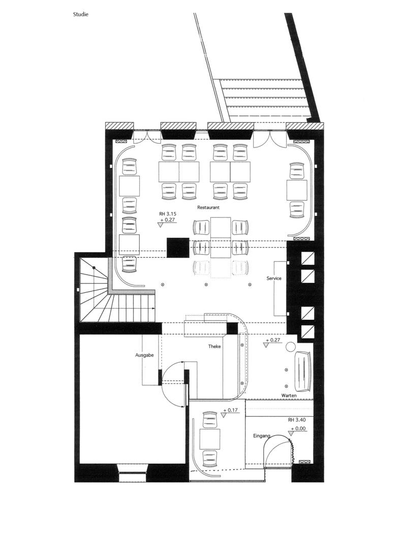 Architekt trifft Koch: Modernisierung des Restaurants Wonka in Nürnberg