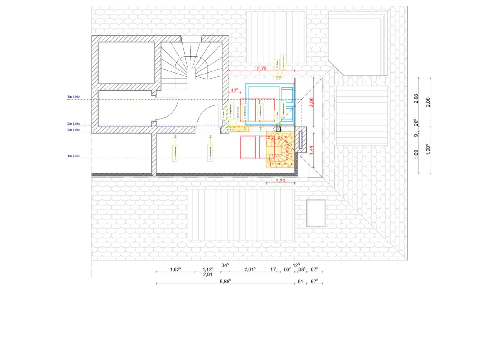 Raumbildender Ausbau Im Dachgeschoss Grundriss Der Plattform