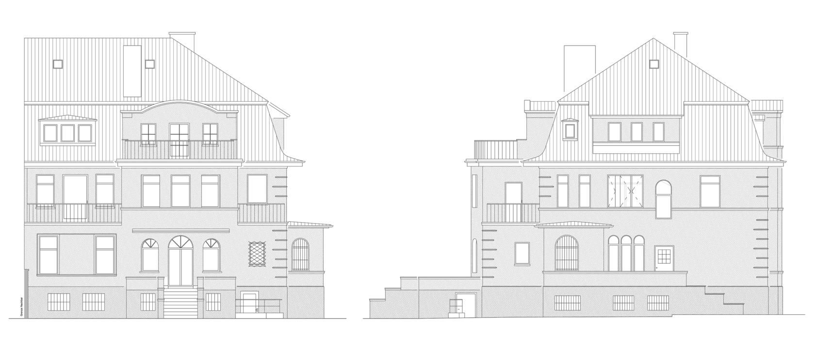 umbau und modernisierung einer villa brandschutz und. Black Bedroom Furniture Sets. Home Design Ideas