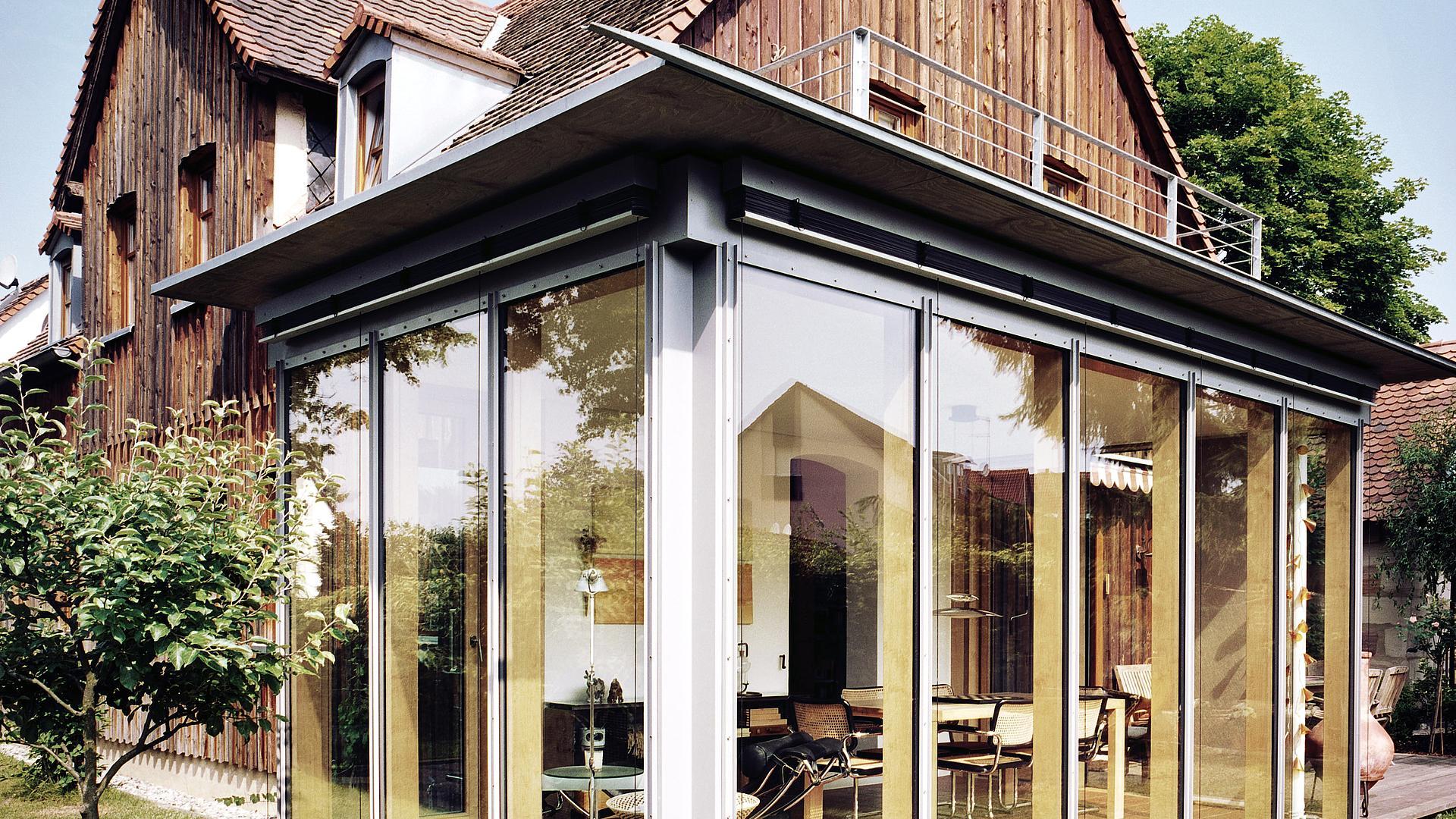 Schniegling Erweiterung Eines Einfamilienhauses Um Einen Wintergarten