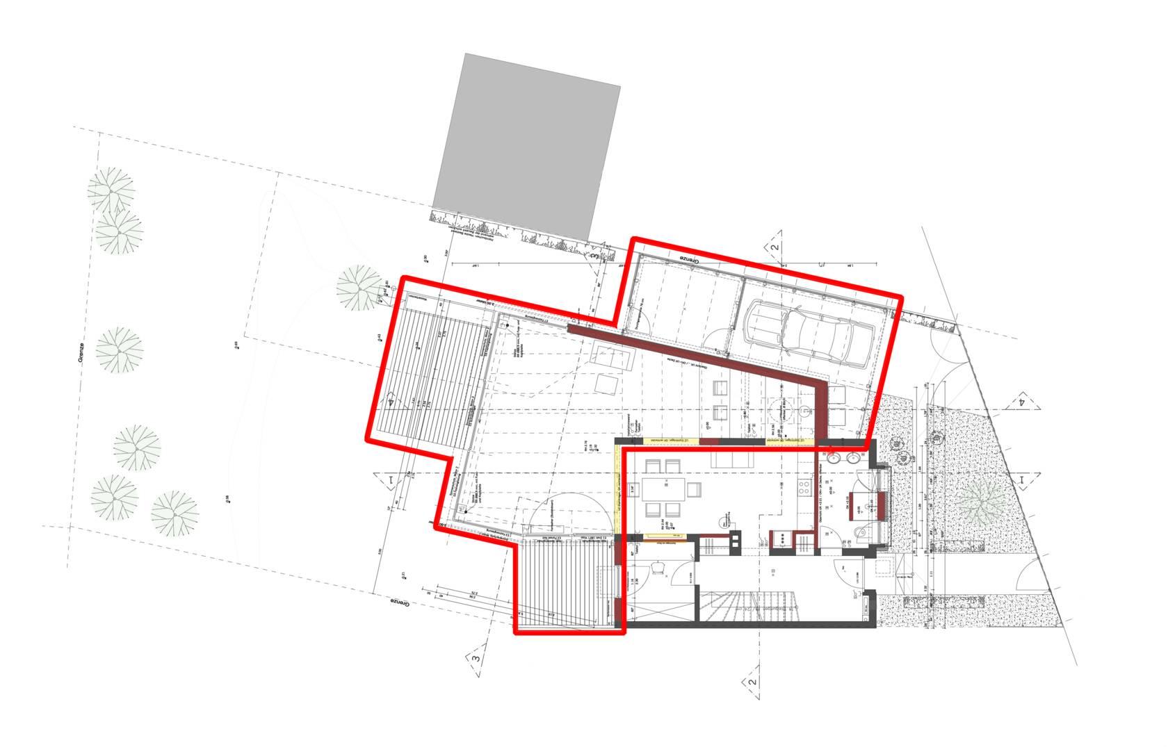 Erweiterung Eines Reiheneckhauses Mit Wintergarten Bauen Im Bestand