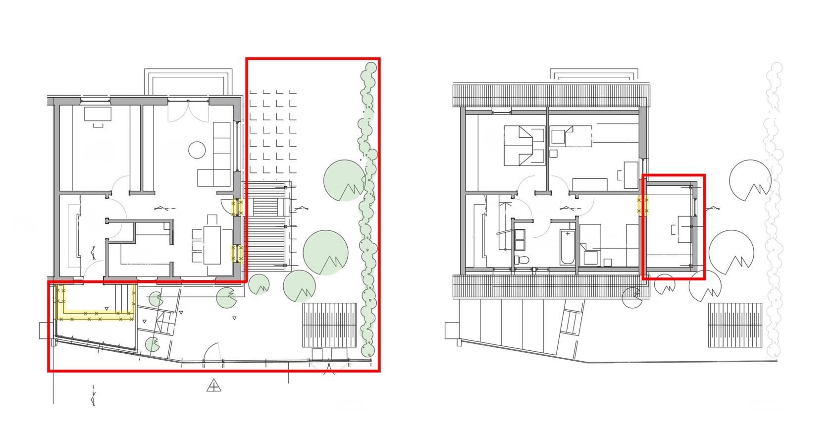 erweiterung eines reiheneckhaus vom kinderzimmer zum schwalbennest. Black Bedroom Furniture Sets. Home Design Ideas
