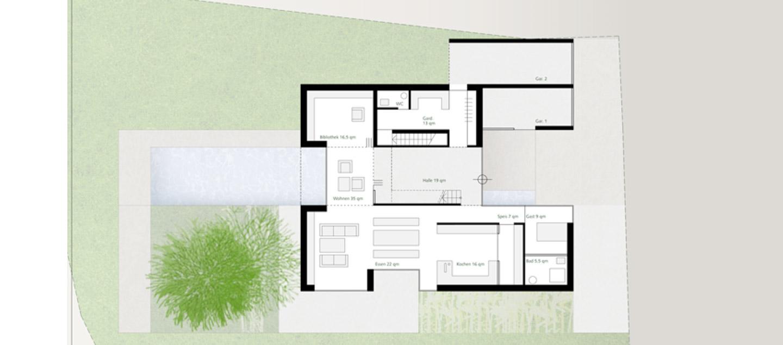 Innenarchitektur skizze grundriss  Geplanter Neubau eines Stadthauses | blauhaus Architekten
