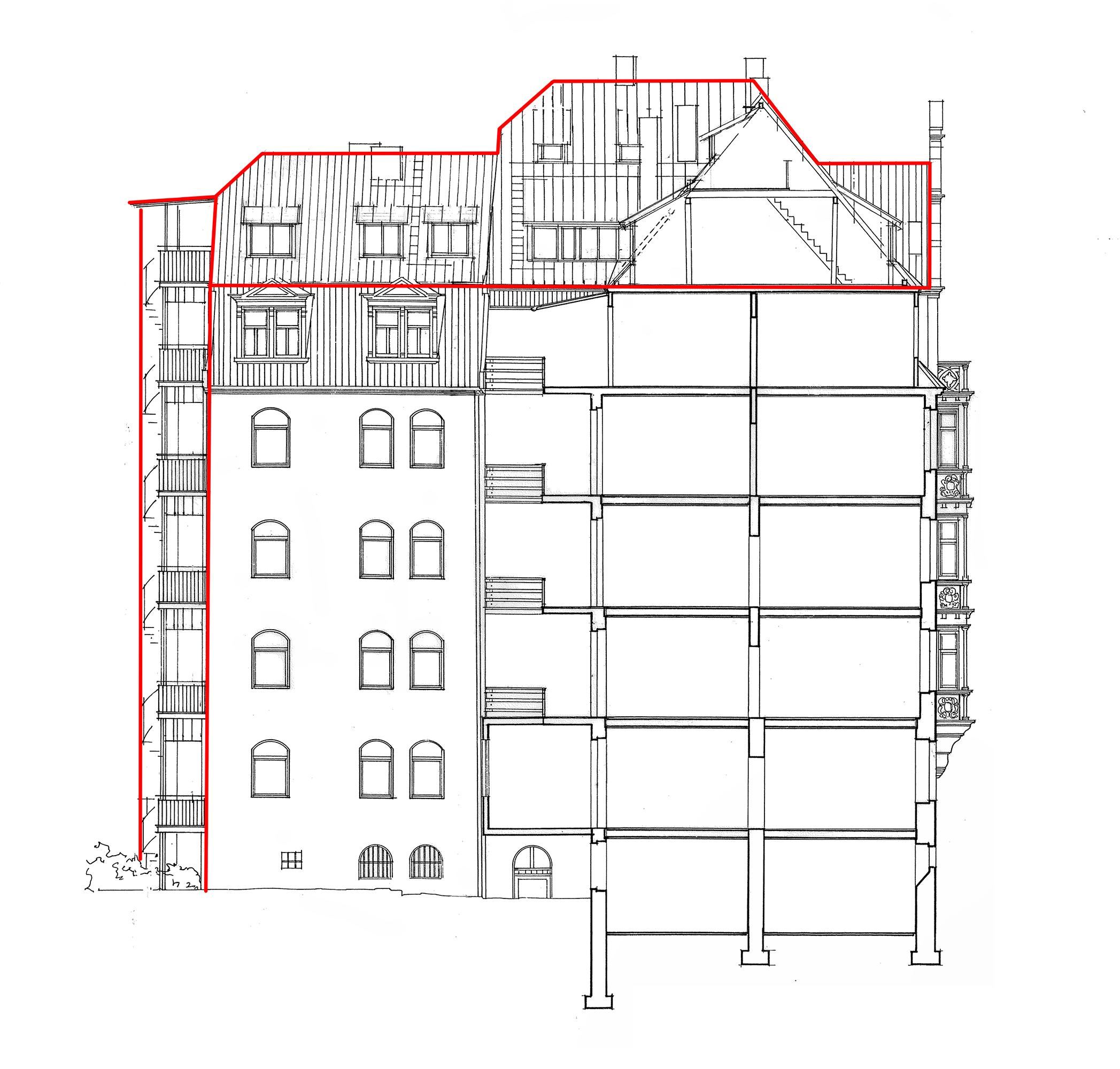 bucher str 21 burgblick nachgereicht ausbau des blauhaus architekten. Black Bedroom Furniture Sets. Home Design Ideas