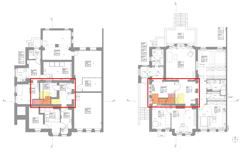 umbau einer villa in ein dreifamilienhaus bei den nibelungen blauhaus architekten. Black Bedroom Furniture Sets. Home Design Ideas