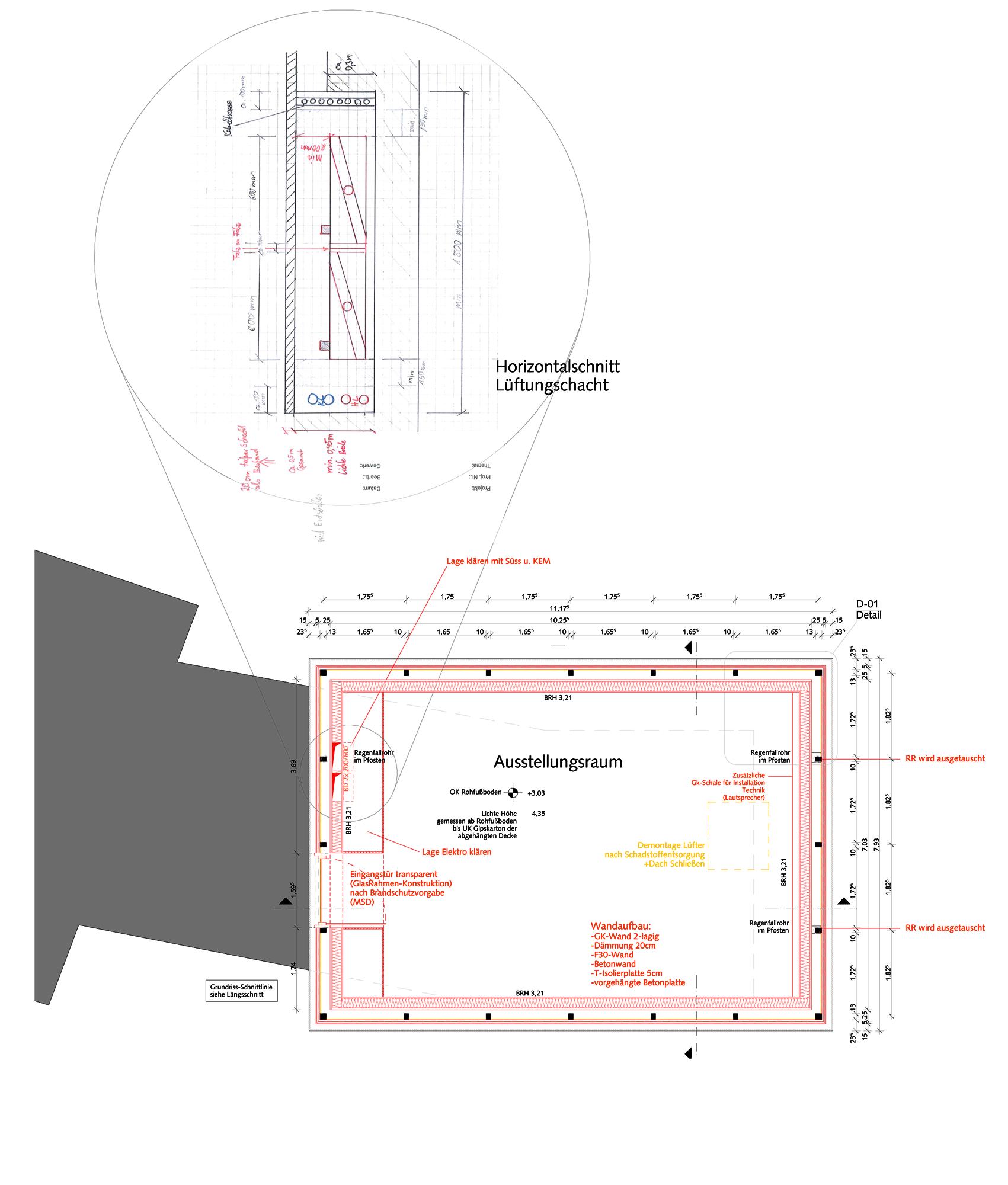 Eingangstür detail grundriss  Original kopiert! Der neue Dürersaal | blauhaus Architekten