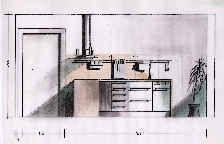 Innenarchitektur skizze küche  Umbau des Bernsteinzimmers an der Großweidenmühle | blauhaus ...