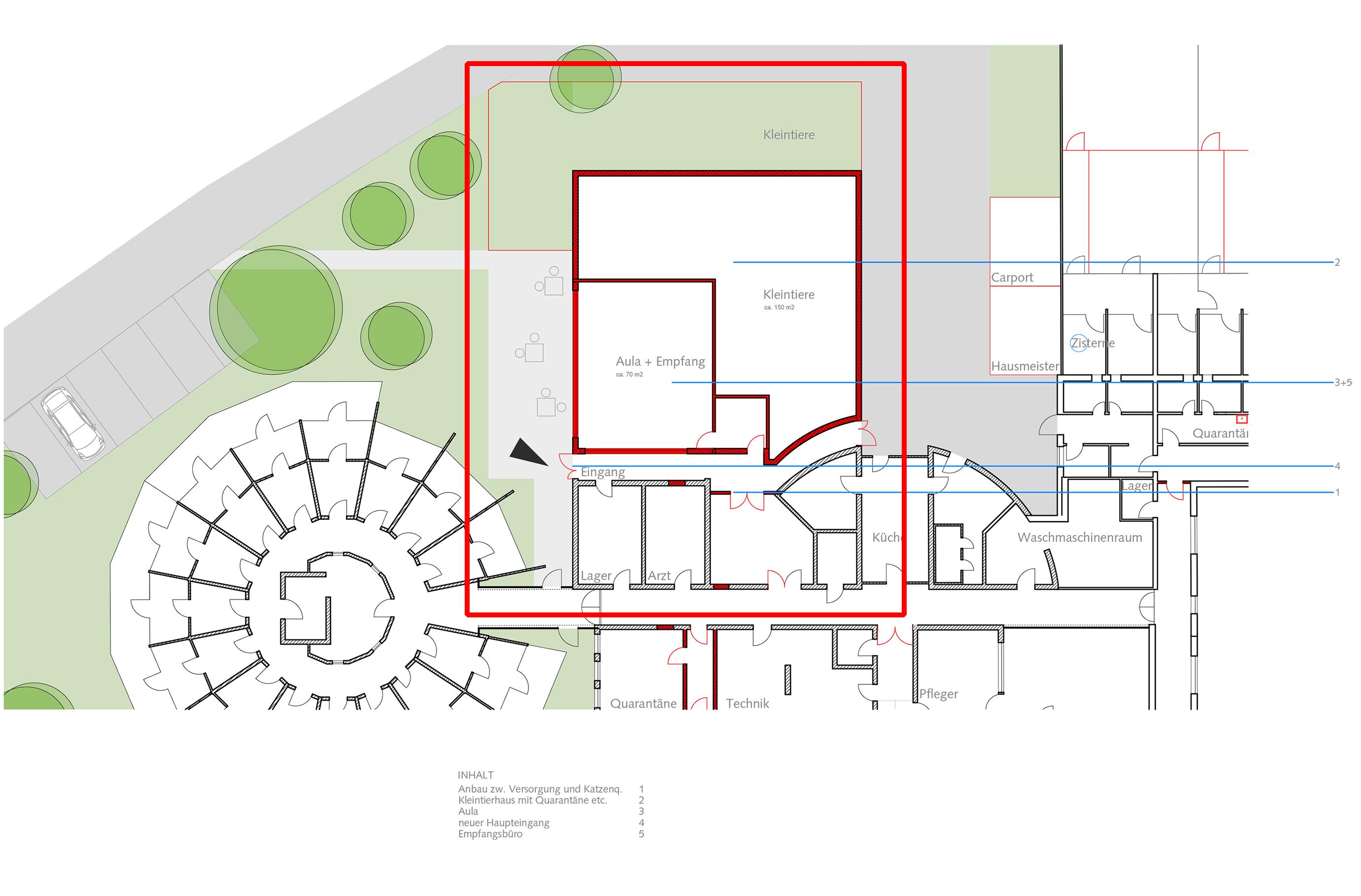 die tiergemeinschaft w chst ihr haus muss nun auch wachsen blauhaus architekten. Black Bedroom Furniture Sets. Home Design Ideas